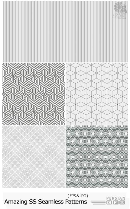 دانلود تصاویر وکتور پترن با طرح های متنوع از شاتر استوک - Amazing ShutterStock Seamless Patterns