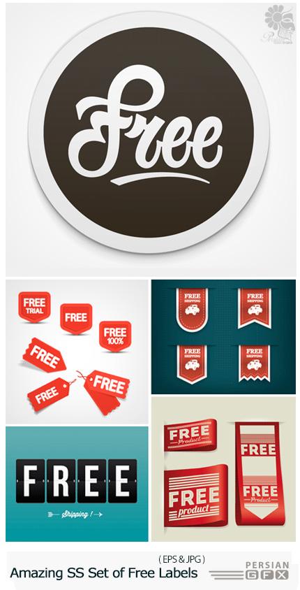 دانلود تصاویر وکتور لیبل یا برچسب رایگان از شاتر استوک - Amazing ShutterStock Set of Free Labels