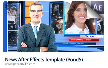 دانلود قالب آماده افتر افکت نمایش تیزر خبر به همراه فیلم آموزش - News After Effects Template Pond5