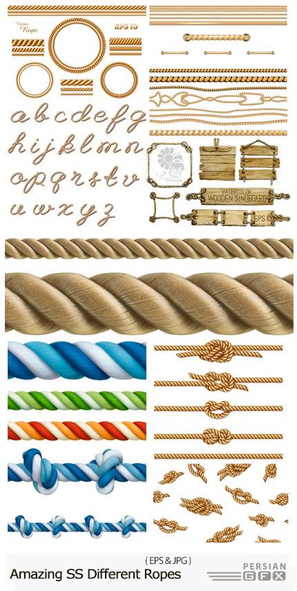 دانلود تصاویر وکتور طناب یا ریسمان های متنوع از شاتر استوک - Amazing ShutterStock Different Ropes