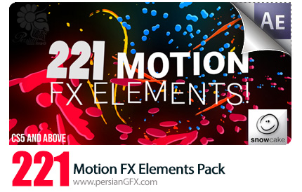 دانلود 221 عناصر طراحی متحرک، خطوط مایع، شخصیت های انیمیشنی و عنوان انیمیشن از ویدئوهایو - Videohive 221 Motion FX Elements Pack