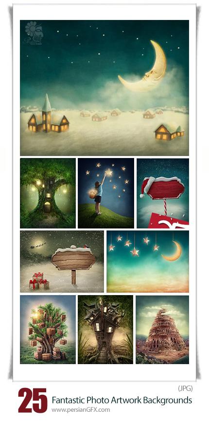 دانلود تصاویر پس زمینه آثار هنری و نقاشی کودک - Fantastic Photo Artwork Backgrounds