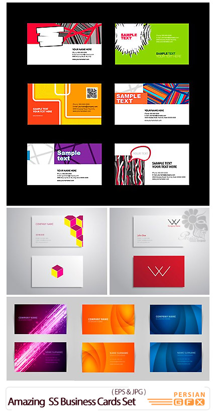 Amazing ShutterStock Business Cards Set