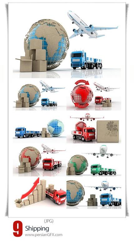 دانلود تصاویر با کیفیت وسایل حمل و نقل کالا، هواپیما، کامیون، ماشین سنگین - Shipping