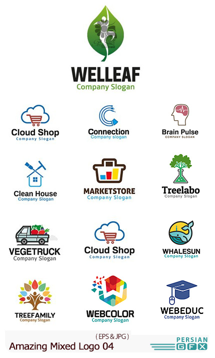 دانلود تصاویر وکتور آرم و لوگوهای مختلف شگفت انگیز - Amazing Mixed Logo 04