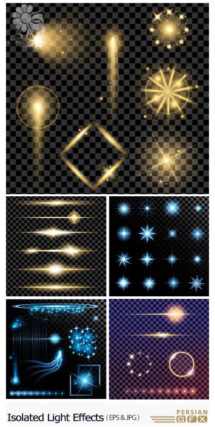 دانلود تصاویر وکتور افکت های نورانی جدا شده از پس زمینه - Isolated Light Effects