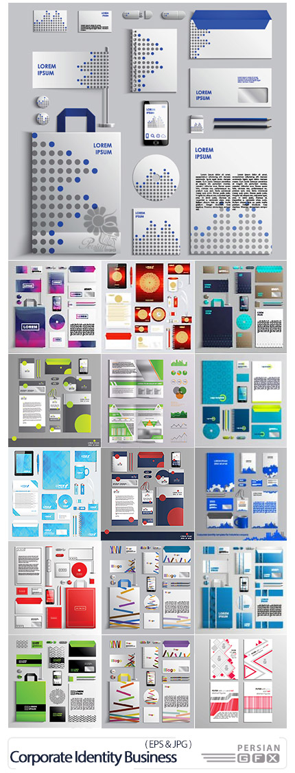 Corporate Identity Business Templates Vector