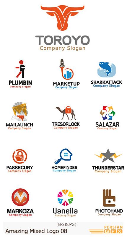دانلود تصاویر وکتور آرم و لوگوهای مختلف شگفت انگیز - Amazing Mixed Logo 08