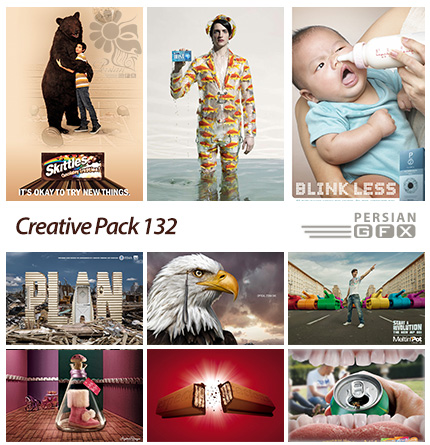 دانلود تصاویر تبلیغاتی متنوع - 132 Creative Pack