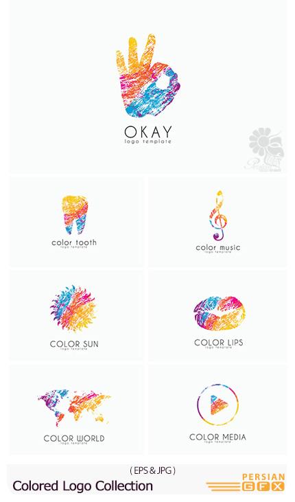 دانلود تصاویر وکتور آرم و لوگوی متنوع رنگارنگ - Colored Logo Collection