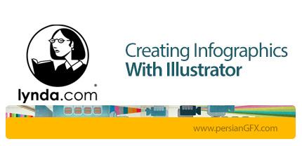 دانلود آموزش رسم نمودار اینفوگرافیک در ایلوستریتور از لیندا - Lynda Creating Infographics With Illustrator