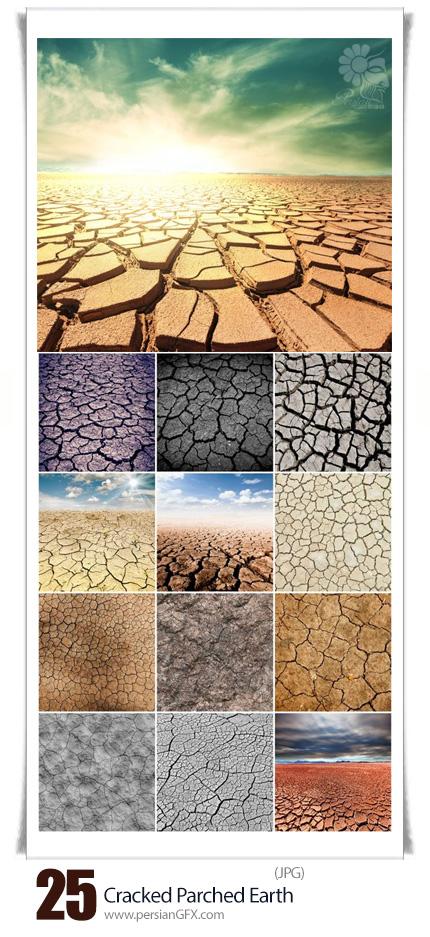 دانلود تصاویر با کیفیت زمین خشک و ترک خورده - Cracked Parched Earth