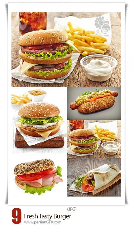 دانلود تصاویر با کیفیت همبرگر تازه و خوشمزه - Fresh Tasty Burger