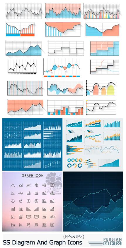 دانلود تصاویر وکتور نمودار و آیکون های گرافیکی از شاتراستوک - Amazing ShutterStock Diagram And Graph Icons
