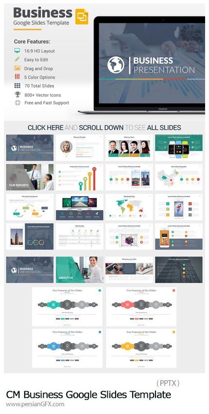 دانلود مجموعه قالب آماده تجاری پاورپوینت - CM Business Google Slides Template