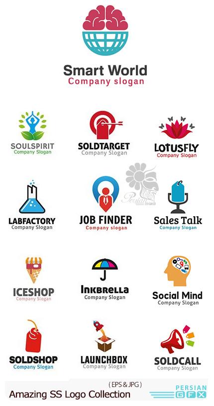 دانلود تصاویر وکتور آرم و لوگوهای مختلف شگفت انگیز - Amazing Mixed Logo 11