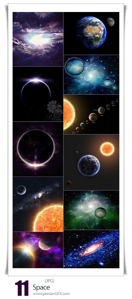 دانلود تصاویر با کیفیت فضا، سیارات، خورشید - Space