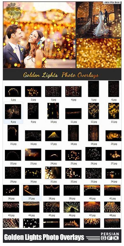 دانلود 80 تصویر کلیپ آرت افکت های نورانی طلایی - CM 80 Golden Lights Photo Overlays