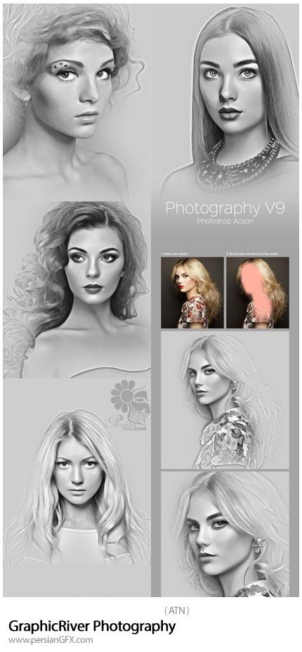 دانلود اکشن فتوشاپ ایجاد افکت سیاه و سفید عکاسی بر روی تصاویر از گرافیک ریور - GraphicRiver Photography