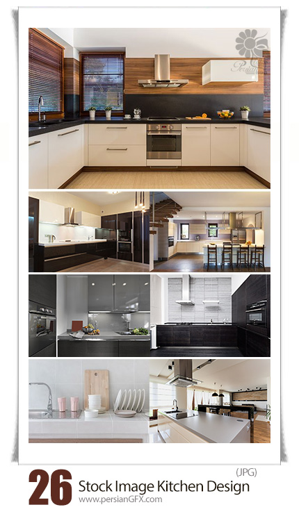 دانلود تصاویر با کیفیت طراحی داخلی آشپزخانه - Stock Image Kitchen Design