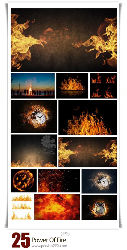 دانلود تصاویر با کیفیت قدرت آتش، شعله آتش - Power Of Fire