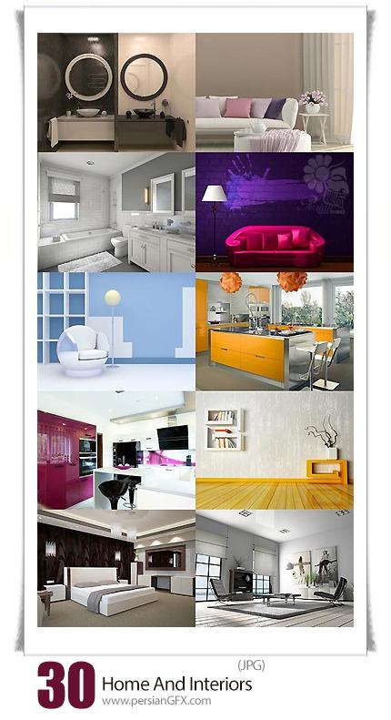 دانلود تصاویر با کیفیت طراحی داخلی خانه، اتاق خواب، سالن پذیرایی، حیاط و ... - Home And Interiors