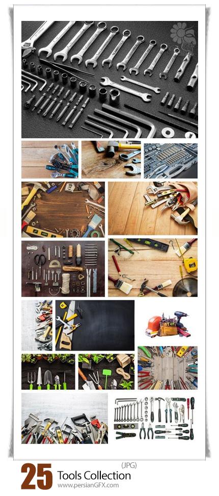 دانلود تصاویر با کیفیت ابزارآلات تعمیرات، آچار فرانسه، پیچ گوشتی، انبردست، پیچ، چکش - Tools Collection