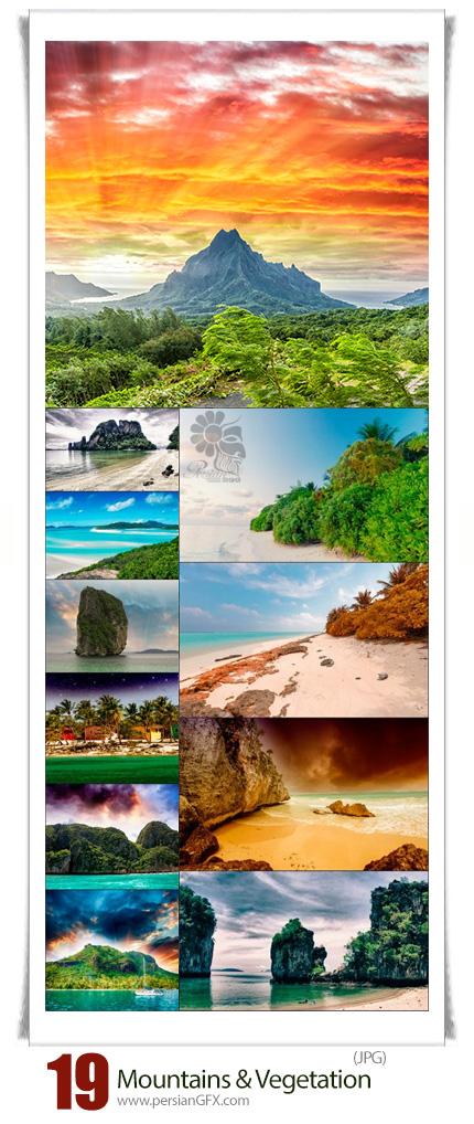 دانلود تصاویر با کیفیت کوه های سرسبز و جزیره - Mountains And Vegetation Of Polynesia
