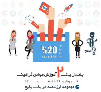 آموزش و ابزار طراحی موشن گرافیک و انیمیشن های دو بعدی در افترافکت به زبان فارسی