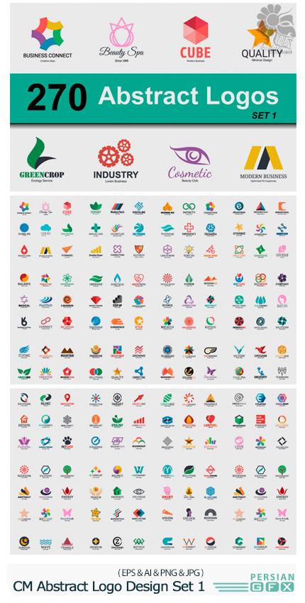 دانلود مجموعه تصاویر وکتور آرم و لوگوی انتزاعی - CM Abstract Logo Design