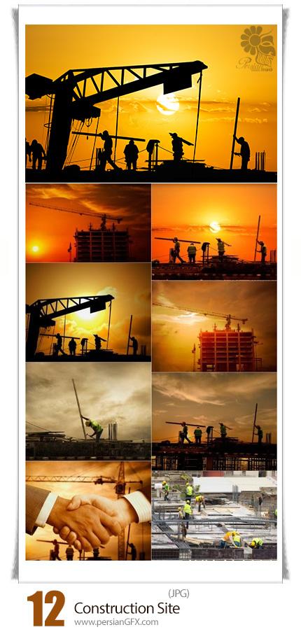 دانلود تصاویر با کیفیت محل ساخت و ساز، کارگران، ساختمان، مصالح - Construction Site