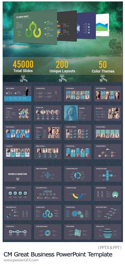 دانلود مجموعه قالب آماده تجاری پاورپوینت - CM Great Business PowerPoint Template