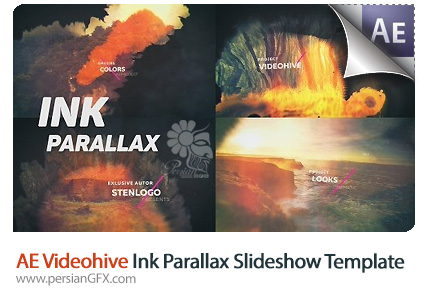 دانلود پروژه آماده افترافکت اسلاید شو با افکت پارالاکس جوهری به همراه آموزش ویدئویی از ویدئوهایو - Videohive Ink Parallax Slideshow After Effects Templates