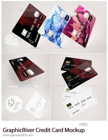 دانلود موکاپ لایه باز کارت اعتباری از گرافیک ریور - GraphicRiver Credit Card Mockup