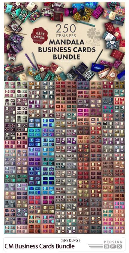 دانلود مجموعه تصاویر وکتور قالب آماده کارت ویزیت های تزئینی متنوع - CM Business Cards Bundle
