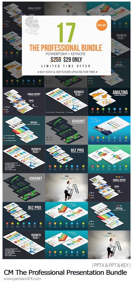 دانلود مجموعه قالب آماده تجاری پاورپوینت و کینُت - CM The Professional Presentation Bundle