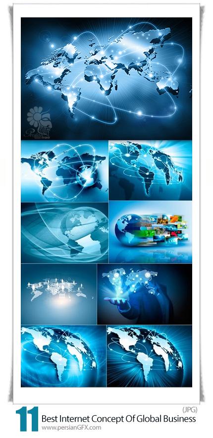 دانلود تصاویر با کیفیت مفهومی تجارت جهانی با اینترنت - Best Internet Concept Of Global Business