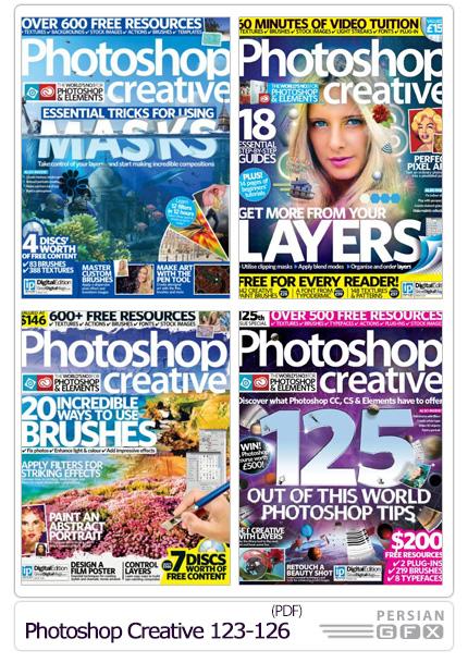 دانلود مجله آموزش های متنوع فتوشاپ - Photoshop Creative 123-126 2015