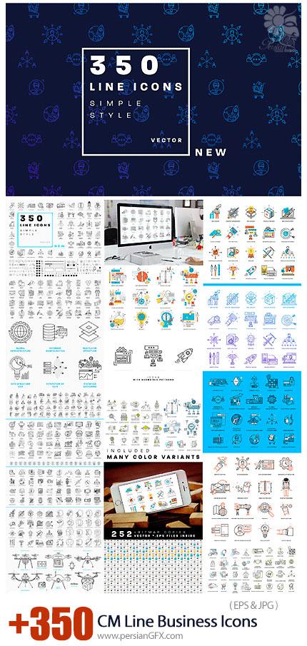 دانلود بیش از 350 آیکون خطی تجاری متنوع - CM 350 Line Business Icons Collection