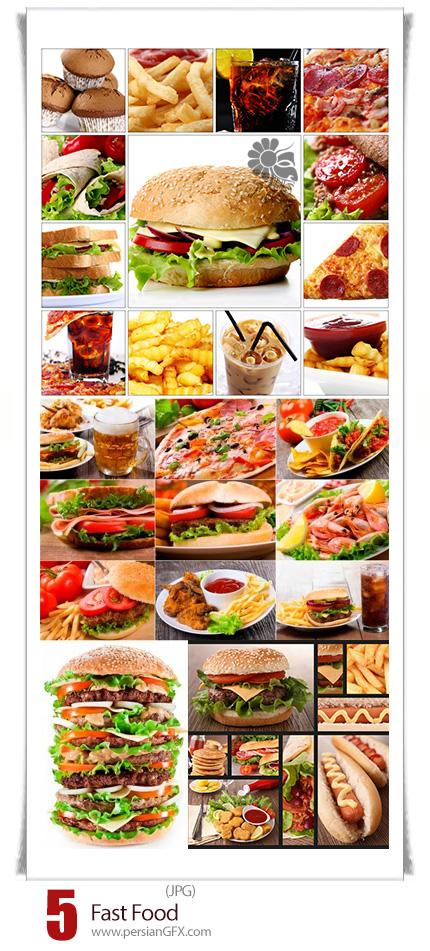 دانلود تصاویر با کیفیت فست فود، هبمرگر، سیب زمینی، پیتزا و ... - Fast Food