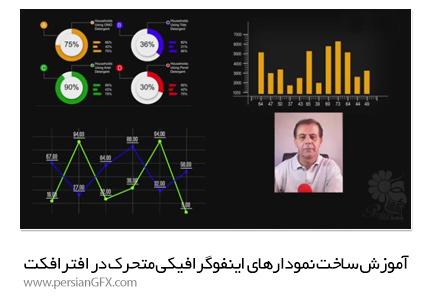 دانلود آموزش ساخت نمودارهای اینفوگرافیکی متحرک در افترافکت از یودمی - Udemy Adobe After Effects Expressions Create Motion Infographics