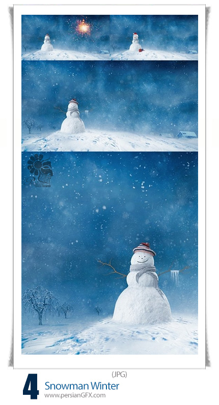 دانلود تصاویر با کیفیت آدم برفی زمستان - Snowman Winter