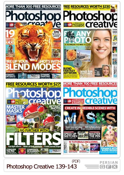 دانلود مجله آموزش های متنوع فتوشاپ - Photoshop Creative 139-143 2016