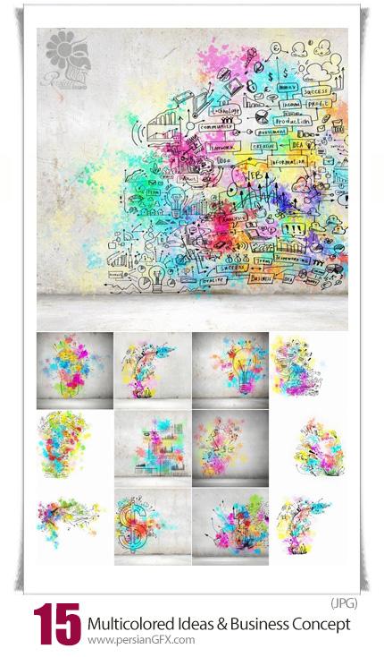 دانلود تصاویر با کیفیت ایده های خلاقانه و تجارت مفهومی رنگارنگ - Multicolored Creative Ideas And Business Concept