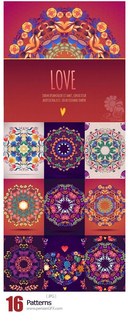 دانلود تصاویر با کیفیت پترن تزئینی گلدار - Patterns