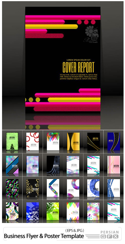 دانلود تصاویر وکتور قالب آماده فلایر و پوستر تجاری - Business Flyer And Poster Template Vector