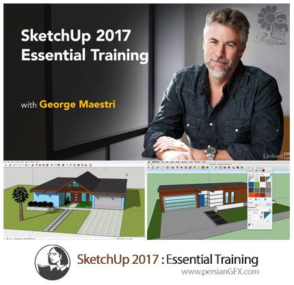 دانلود آموزش نرم افزار سه بعدی اسکچآپ 2017 از لیندا - Lynda SketchUp 2017 Essential Training