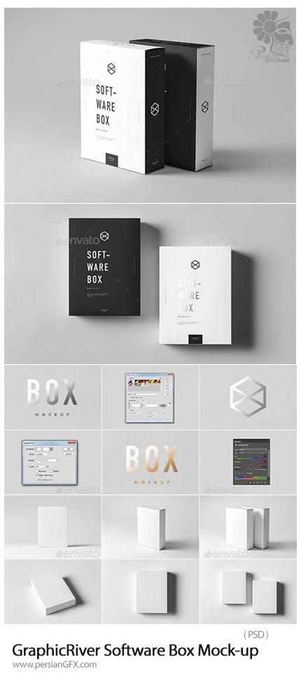 دانلود موکاپ لایه باز جعبه نرم افزار از گرافیک ریور - GraphicRiver Software Box Mock-up