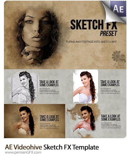 دانلود پروژه آماده افترافکت تبدیل تصاویر و ویدئو به طرح اولیه FX به همراه آموزش ویدئویی از ویدئوهایو - Videohive Sketch FX After Effects Templates