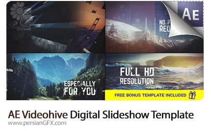 دانلود پروژه آماده افترافکت قالب آماده اسلاید شو تصاویر با افکت دیجیتالی از ویدئوهایو - Videohive Digital Slideshow After Effects Templates